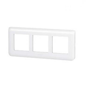 LEGRAND Mosaic Plaque triple horizontale Blanc E57 - 078866