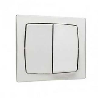 LEGRAND Interrupteur double va et vient en saillie blanc - 086020