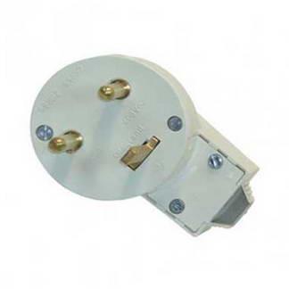 LEGRAND Fiche électrique 20A avec terre et serre-câble blanc - 090114