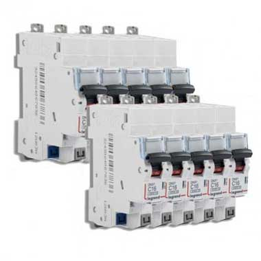 LEGRAND DNX3 Lot de 10 disjoncteurs 16A auto Ph+N courbe C 4.5kA 230V - LOT406783