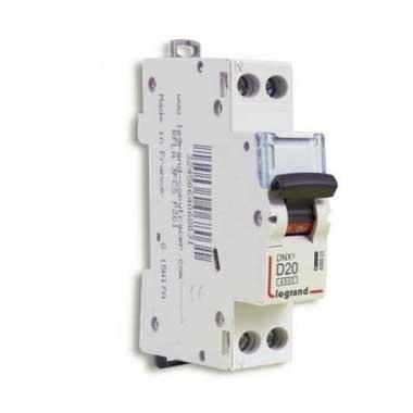 LEGRAND DNX3 Disjoncteur 20A Ph+N courbe D 6kA 230V - 406803