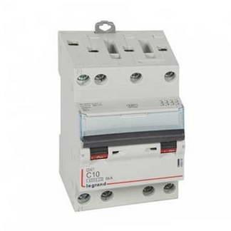LEGRAND DNX3 Disjoncteur tétrapolaire 10A courbe C 6kA 400V - 406908