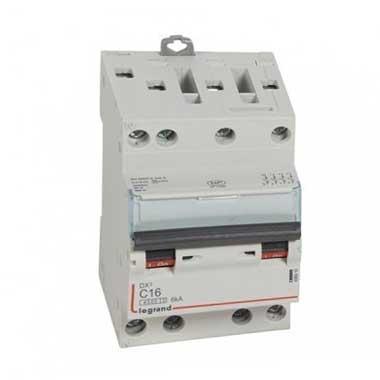 LEGRAND DNX3 Disjoncteur tétrapolaire 16A courbe C 6kA 400V - 406910