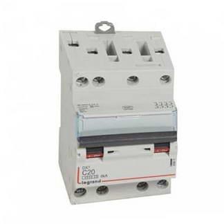 LEGRAND DNX3 Disjoncteur tétrapolaire 20A courbe C 6kA 400V - 406911