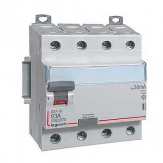LEGRAND DX3 Interrupteur différentiel tétrapolaire 63A 30mA type AC 4 modules 400V - 411662