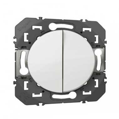 LEGRAND Dooxie Double bouton poussoir blanc - 600008