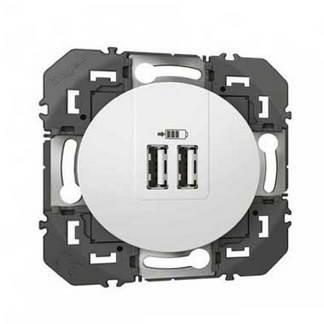 LEGRAND Dooxie Prise USB double 2400mA blanc - 600343
