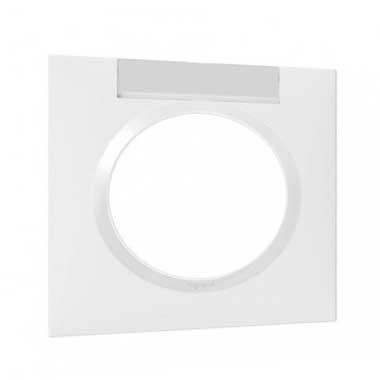 LEGRAND Dooxie Plaque simple avec porte étiquette blanc - 600942