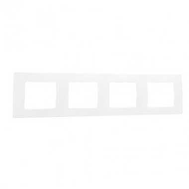 LEGRAND Niloé Plaque quadruple Blanc - 665004