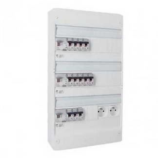LEGRAND Drivia Tableau électrique pré-équipé auto 3 rangées 3ID 63A 12 disjoncteurs