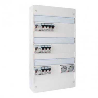 LEGRAND Drivia Tableau électrique pré-équipé auto 3 rangées 3ID 40A 10 disjoncteurs
