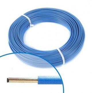Fil électrique rigide H07VU 1.5² bleu - Couronne de 100m