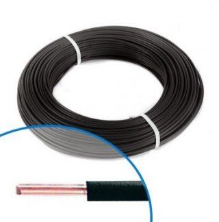 Fil électrique rigide H07VU 1.5² noir - Couronne de 100m