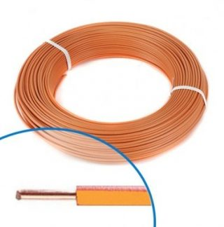 Fil électrique rigide H07VU 1.5² orange - Couronne de 100m