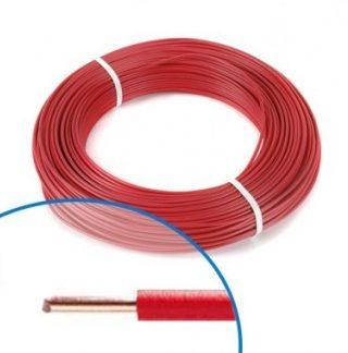 Fil électrique rigide H07VU 1.5² rouge - Couronne de 100m