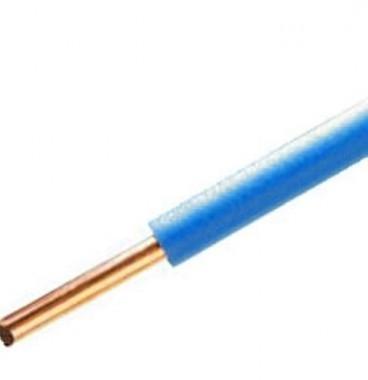 Fil électrique rigide H07VU 2.5² bleu - Couronne de 100m