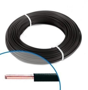 Fil électrique rigide H07VU 2.5² noir - Couronne de 100m