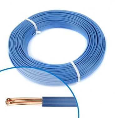 Fil électrique rigide H07VR 6² bleu Nexans - Couronne de 100m