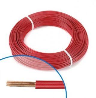 Fil électrique rigide H07VR 6² rouge NEXANS - Couronne de 100m