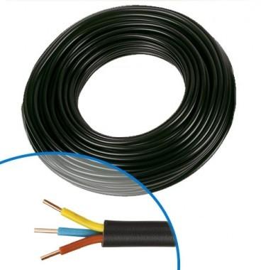 Câble électrique R02V 3G1.5² M/B/VJ - Couronne de 50m