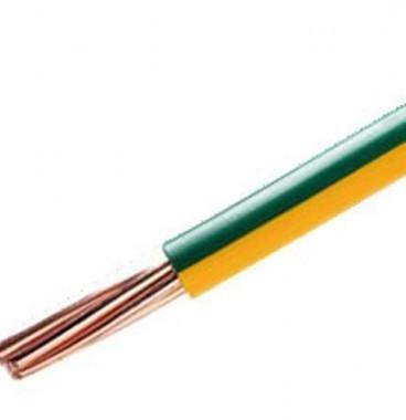Fil électrique rigide H07VR 6² vert / jaune NEXANS - Prix au mètre