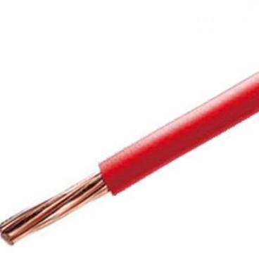Fil électrique rigide H07VR 10² rouge NEXANS - Prix au mètre