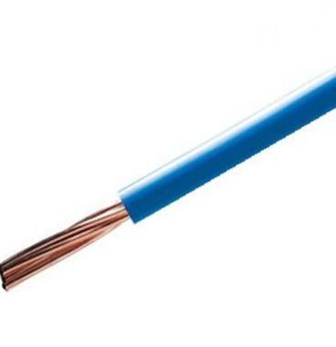 Fil électrique rigide H07VR 10² bleu NEXANS - Prix au mètre