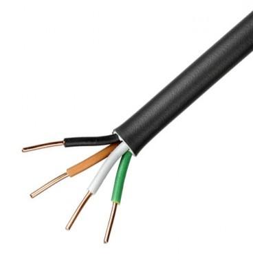 Câble électrique R02V 4G2.5² N/M/G/VJ NEXANS - Couronne de 50m