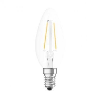 OSRAM Ampoule LED filament E14 230V 1,6W(=15W) 136lm 2700°K flamme
