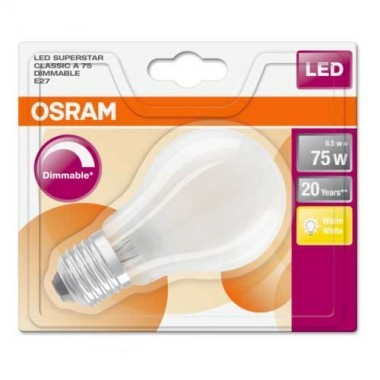 OSRAM Ampoule LED dimmable E27 230V 8,5W(=75W) 1055lm 2700°K standard