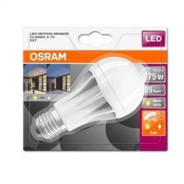 OSRAM Ampoule LED avec détecteur de mouvement E27 230V 11,5W(=75W) 1060lm 2700°K standard STAR+