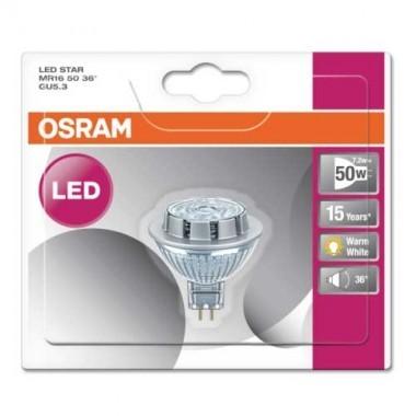 OSRAM Spot LED MR16 GU5.3 36° 12V 7,2W(=50W) 621lm 2700°K