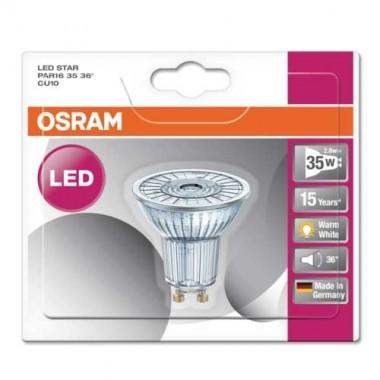 OSRAM Spot LED PAR16 GU10 36° 230V 2,6W(=35W) 230lm 2700°K