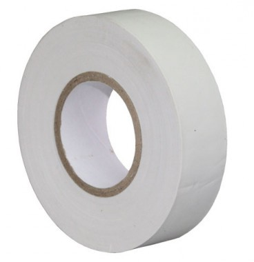Ruban adhésif isolant blanc 19mm x 20m