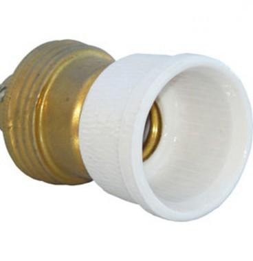 Douille laiton E14 bague porcelaine