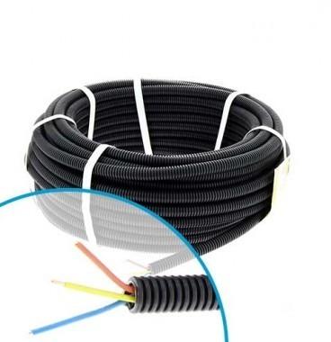Gaine électrique ICTA préfilée 3G1,5 R/B/VJ D16 Qofil - Couronne de 30m