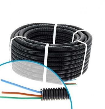 Gaine électrique ICTA préfilée 3G2,5 R/B/VJ D20 Qofil - Couronne de 30m