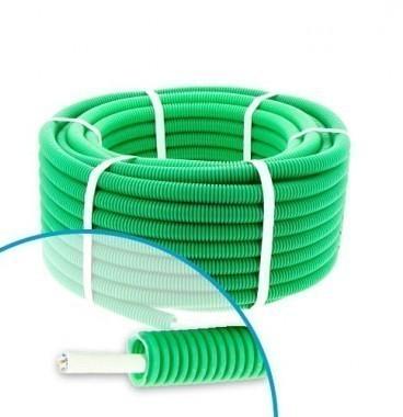 Gaine électrique ICTA préfilée CAT6 250MHz FTP 4P D20 Qofil - Couronne de 30m