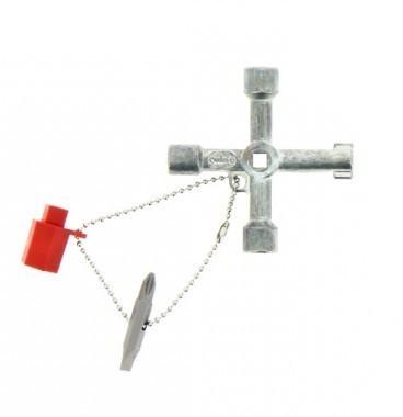 E-ROBUR Clé universelle en croix pour armoire électrique - 394010