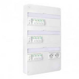 SCHNEIDER Resi9 XP Tableau électrique prééquipé 3 rangées 3ID 40A 10 disjoncteurs