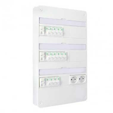 SCHNEIDER Resi9 XP Tableau électrique prééquipé 3 rangées 3ID 63A 12 disjoncteurs