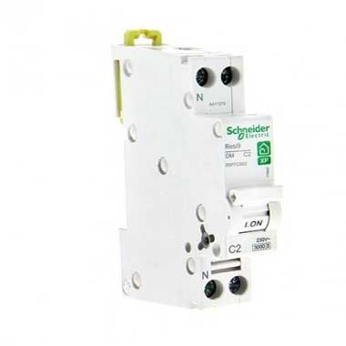 SCHNEIDER Resi9 XP Disjoncteur 2A Ph+N courbe C 3kA 230V - R9PFC602