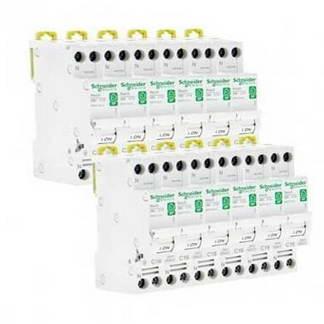 SCHNEIDER Resi9 XP Disjoncteur 16A Ph+N courbe C 3kA 230V - Lot de 12 R9PFC616