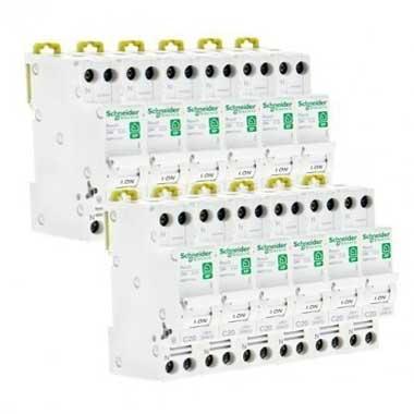 SCHNEIDER Resi9 XP Disjoncteur 20A Ph+N courbe C 3kA 230V - Lot de 12 R9PFC620