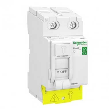 SCHNEIDER Resi9 XP Interrupteur différentiel 63A 30mA type A 230V - R9PRA263