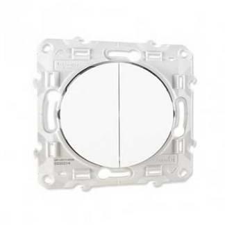 SCHNEIDER Odace Double bouton poussoir blanc - S520216