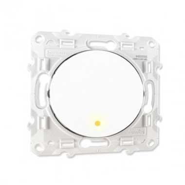 SCHNEIDER Odace Interrupteur va et vient à voyant lumineux blanc - S520263