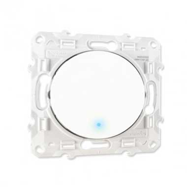 SCHNEIDER Odace Bouton poussoir à voyant lumineux blanc - S520276