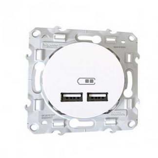 SCHNEIDER Odace Prise USB double 2100mA blanc - S520407