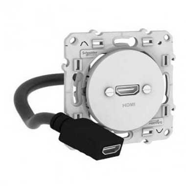 SCHNEIDER Odace Prise HDMI type A blanc - S520462